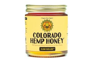 Double Strength Raw Relief 6 oz 1000 mg - Colorado Hemp Honey