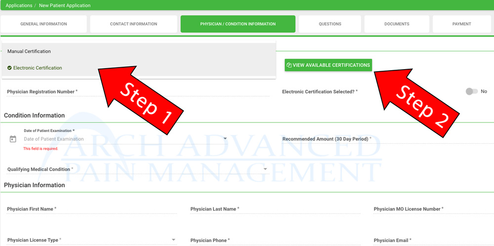 Electronic Certification Help MMJ Portal Missouri