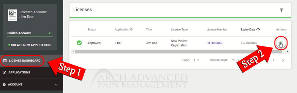 How to Download Missouri MMJ Card (Download License) Steps 1 & 2